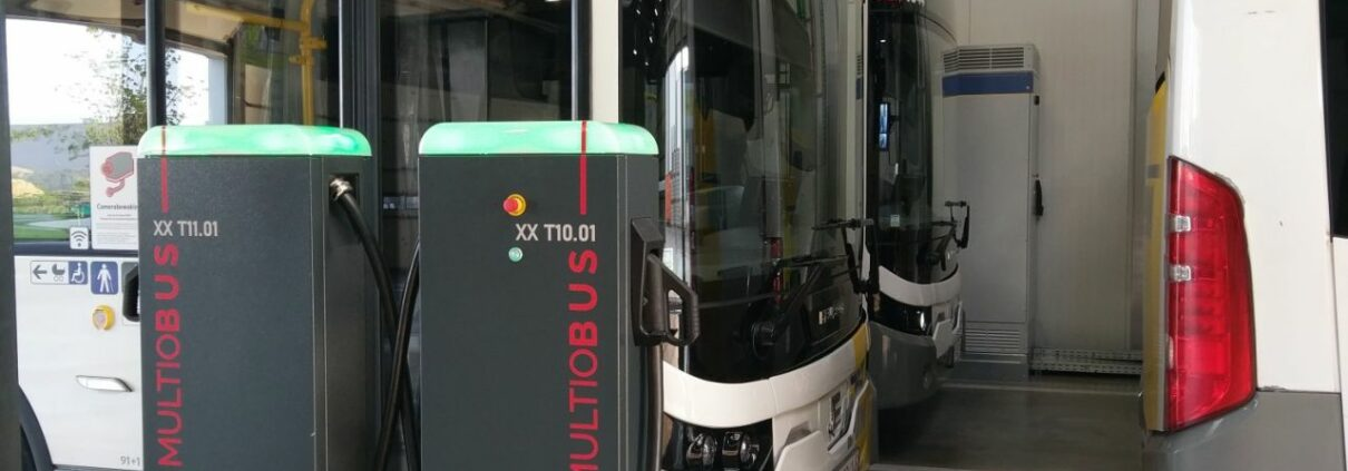 Laadpalen elektrische bussen