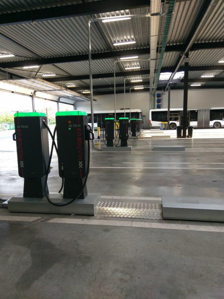 Hoogspanningscabine voor elektrische bussen